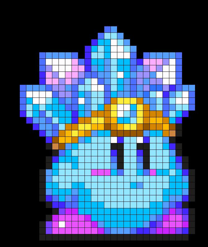 Ice_Kirby by HoshiNoKaabi on Kandi Patterns   クロスステッチ 図案 ...