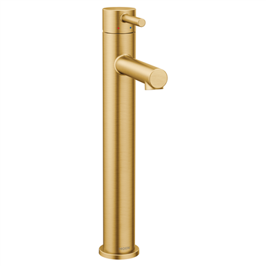 Moen Align Single Hole Bathroom Faucet Brushed Gold In 2020