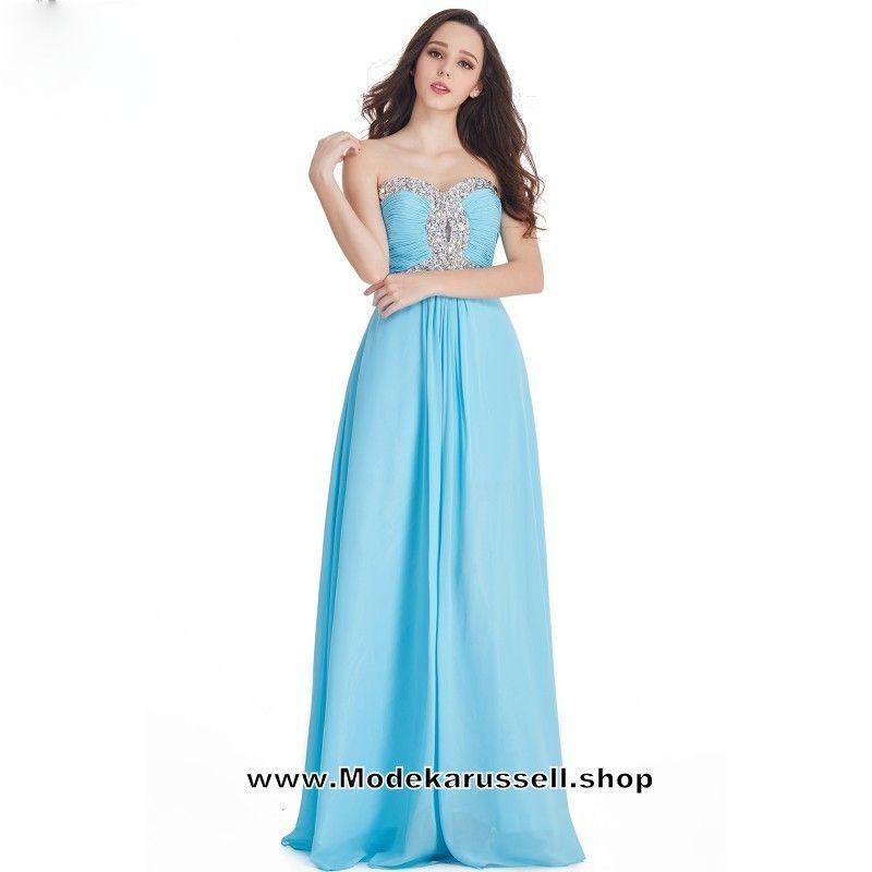 Chiffon Abendkleid Hellblau Party Kleid Anuja Lang | Abendkleider ...