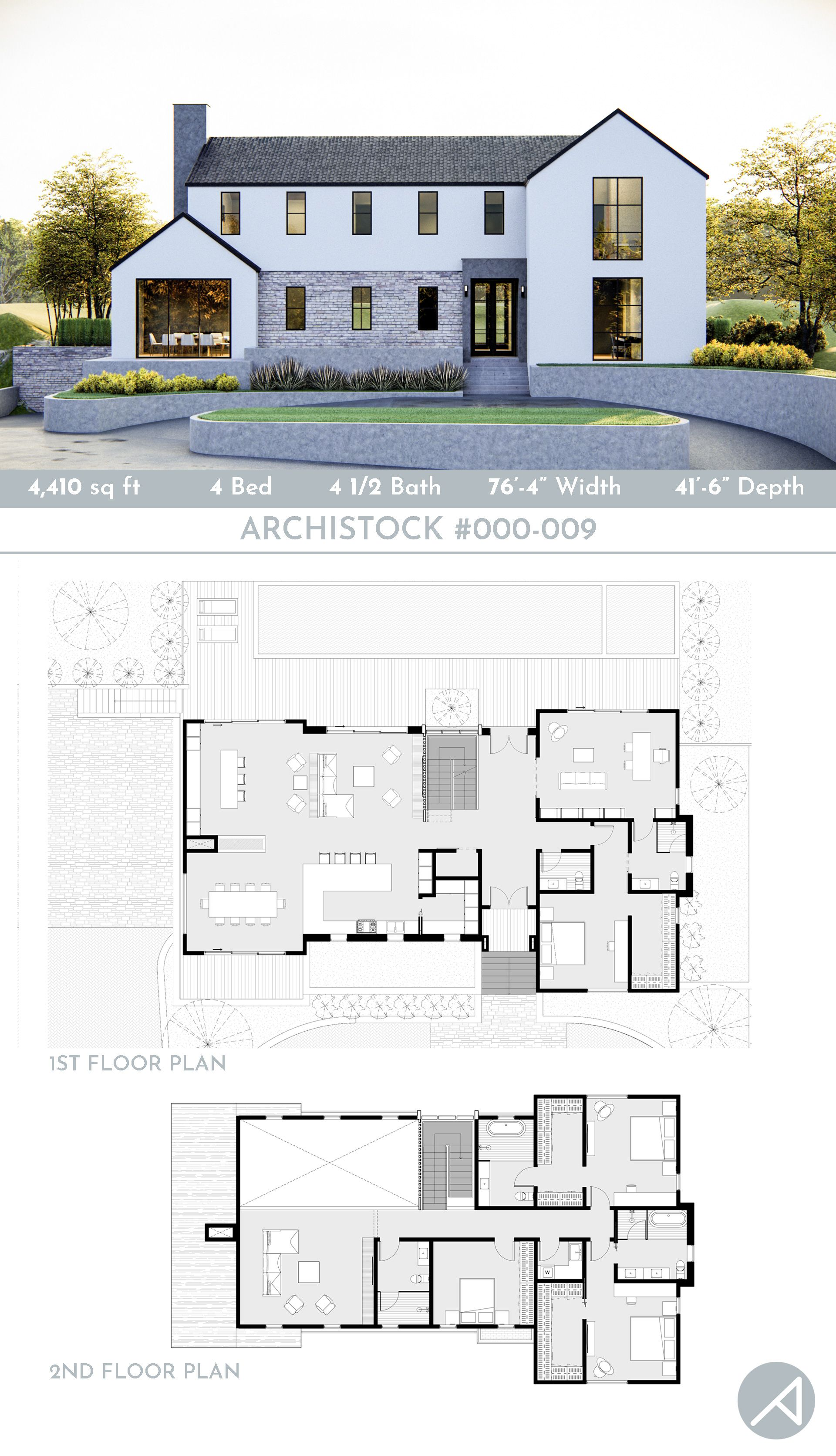 4 Bedroom Modern Farmhouse Plan With A Basement Farmhouse Style House Plans Modern Farmhouse Plans Beautiful House Plans