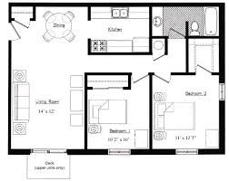 two bedroom garage apartment plans - Google Search (With ...