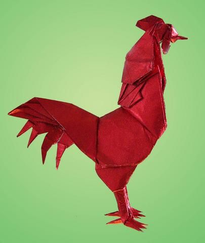 rooster origami paper pinterest origami oragami and