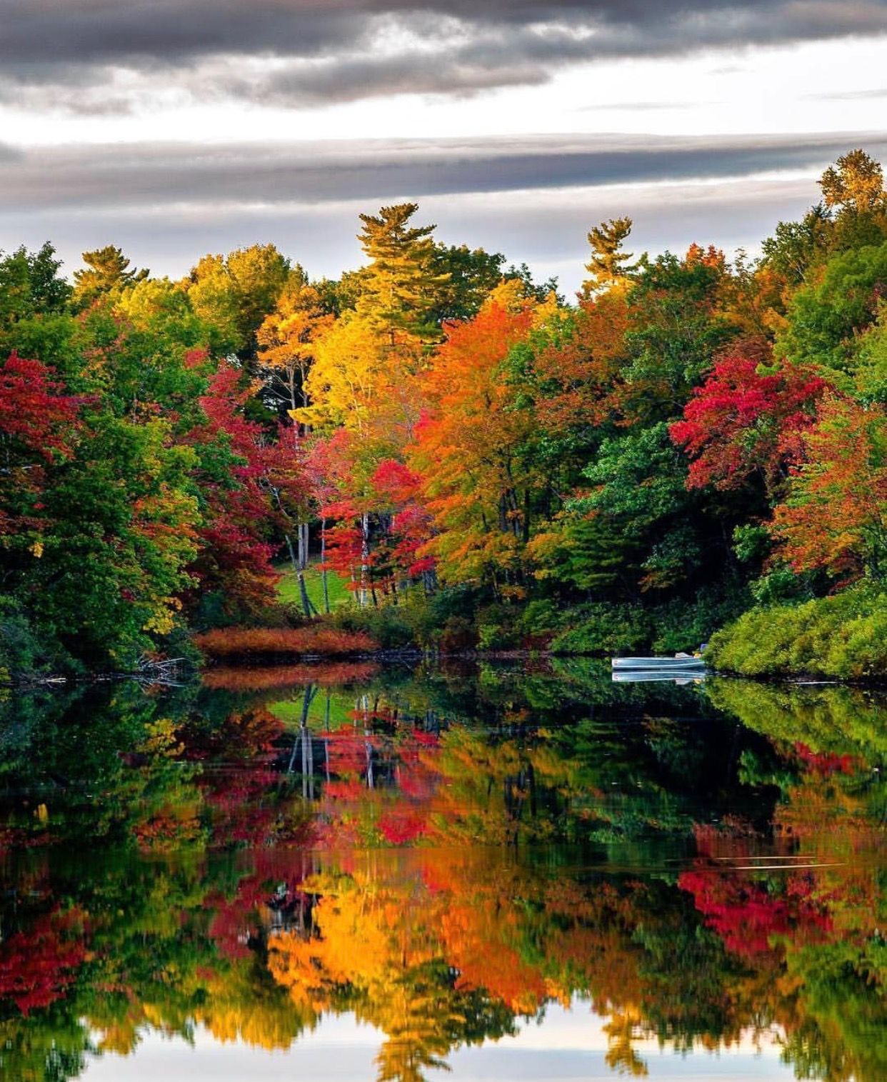 Maine In The Fall, Autumn Landscape