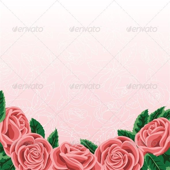 Template for Wedding Invitation or Greeting Card Valentines - greeting card template