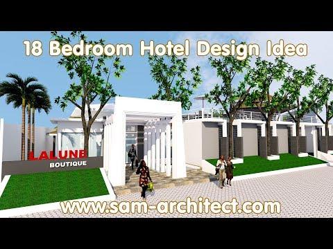 (12) SketchUp Boutique Hotel Design Idea with 18 Rooms Samphoas 02 - YouTube