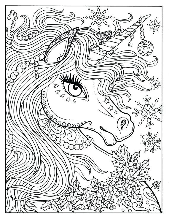 Unicorn Coloring Pages Adults Free Unicorn Coloring Pages Unicorn Coloring Pages Coloring Book Art Christmas Coloring Pages