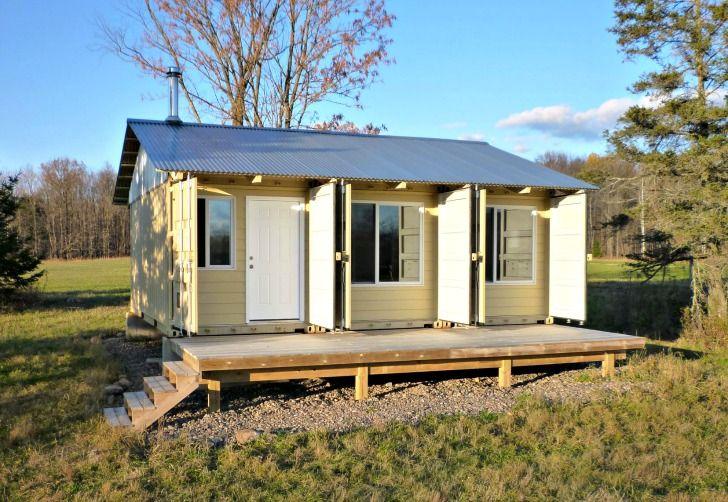Tin Can Cabin Exterior Photos Smallspacesaddiction