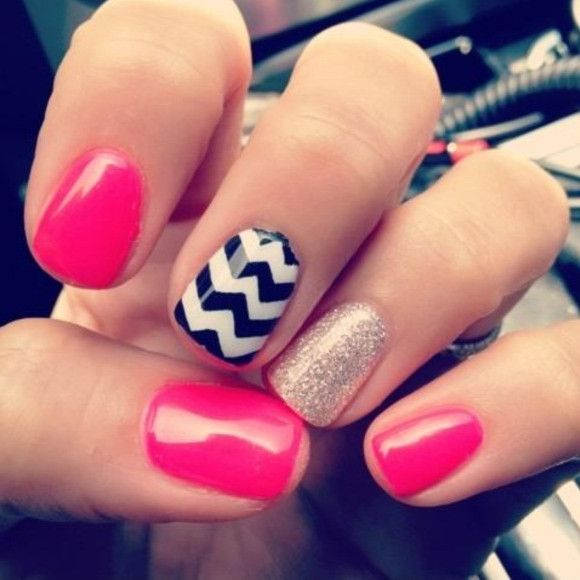 cool nail designs suitable for the flower girls - Nail Design Ideas For Short Nails