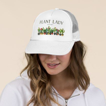 the latest 8e0c9 60ea8 Trendy and Funny Plant Lady with Cactus Trucker Hat - trendy gifts cool  gift ideas customize