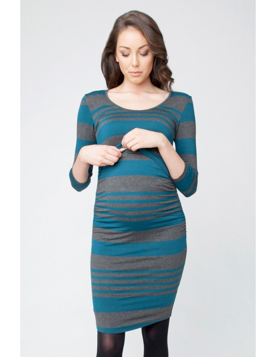 Striped Nursing Tube Dress - Maternity Dresses - Maternity ...