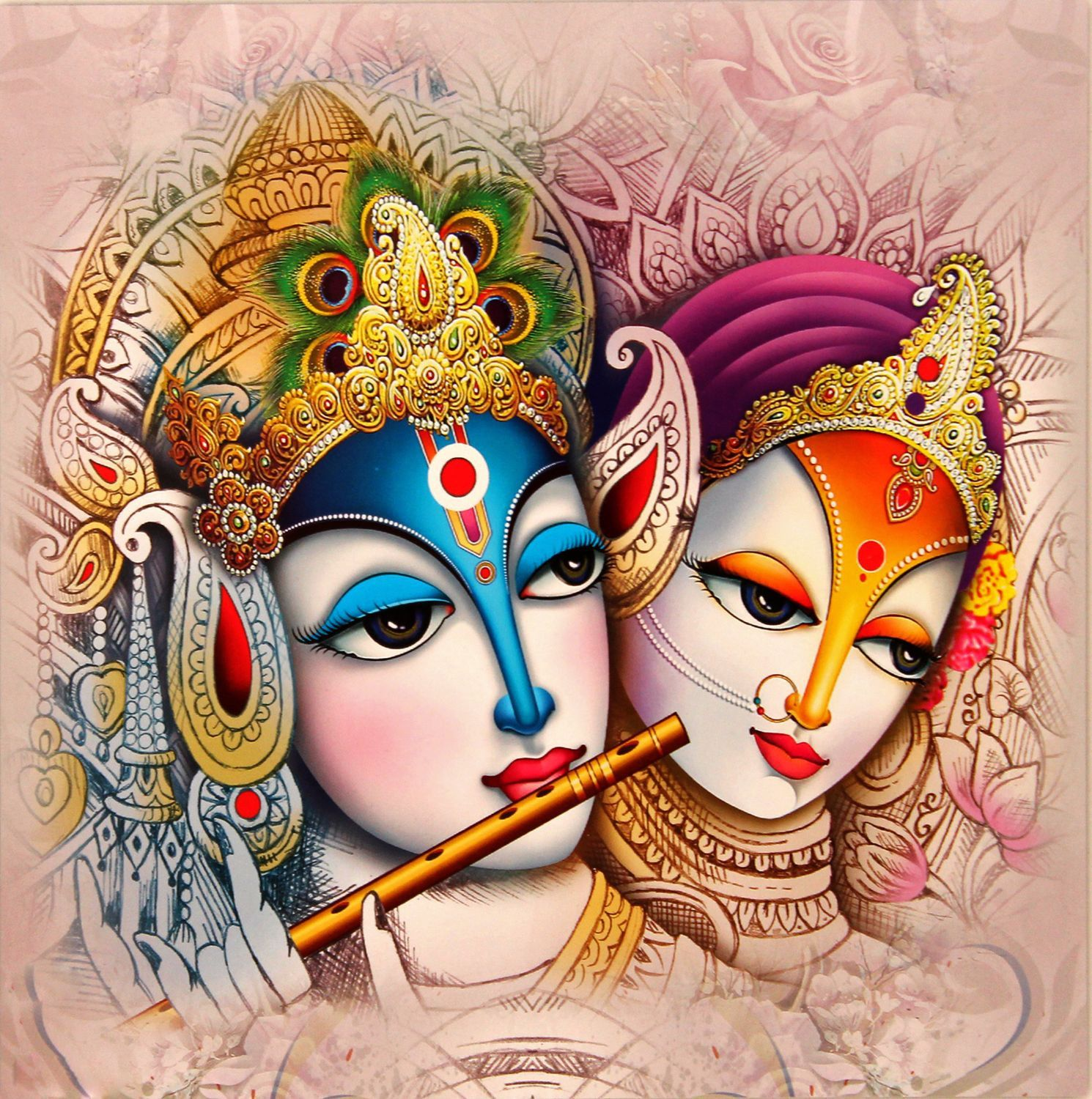 Indian Art - Radha Krishna Painting 3