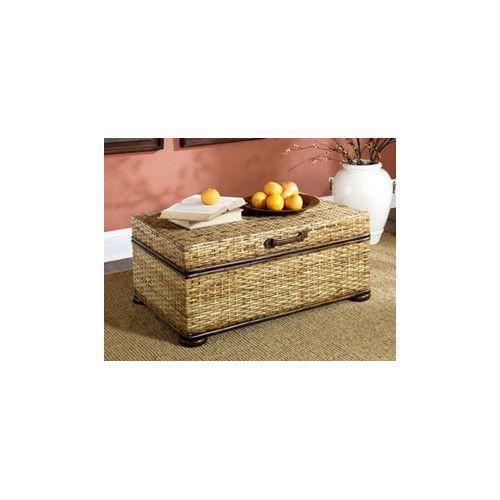 Delightful Hammary Hidden Treasures Trunk Coffee Table With Lift Top
