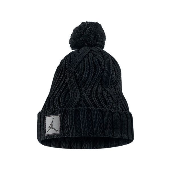 9807ae083e3 Nike Jordan Jumpman Cable Pom Beanie ( 30) ❤ liked on Polyvore featuring  accessories
