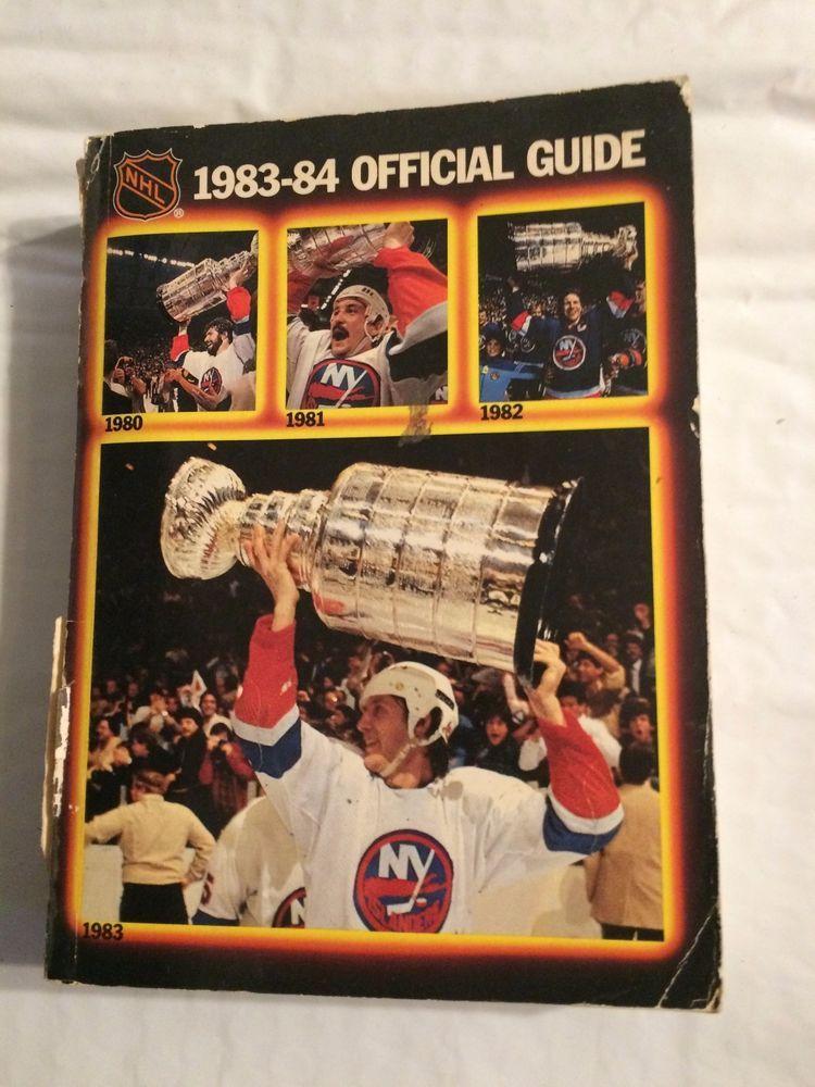 198384 N.H.L. Official Guide N.Y.Islanders 4 Time Cup