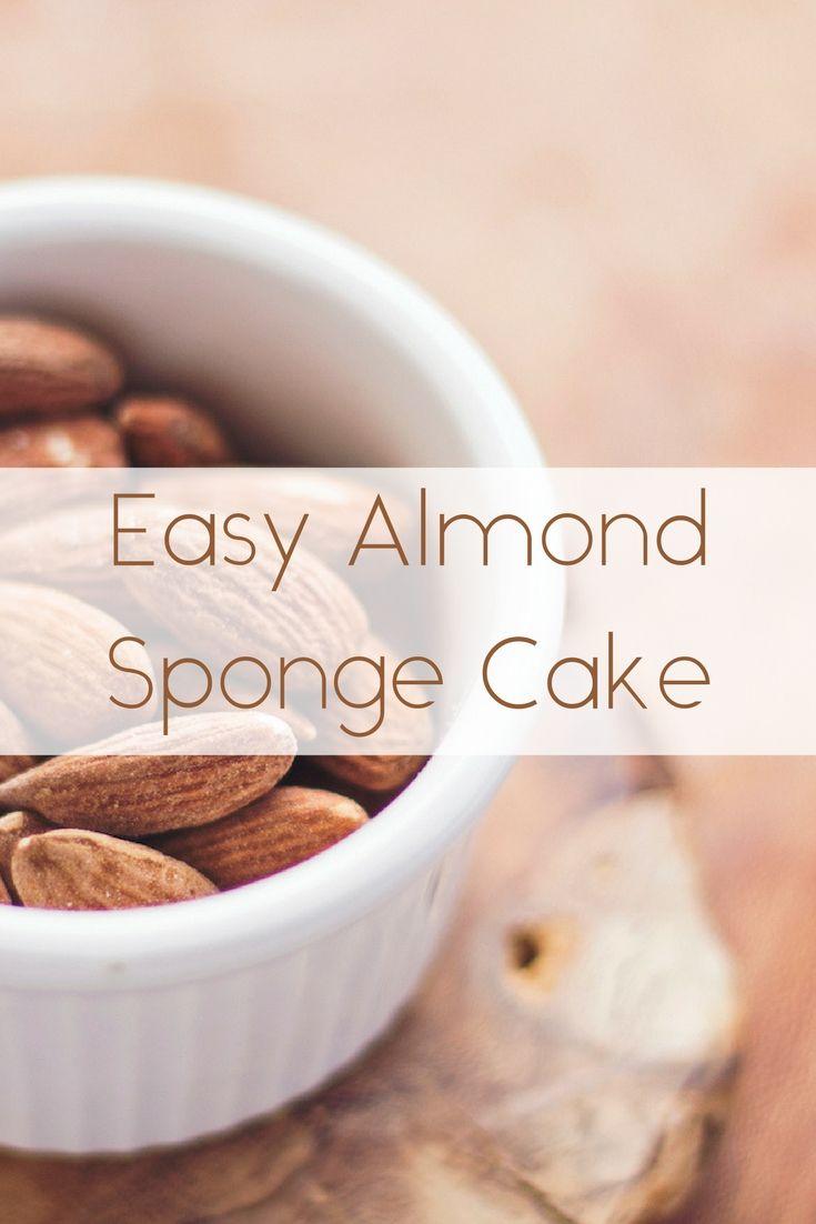 Easy almond sponge cake recipe almond sponge cake