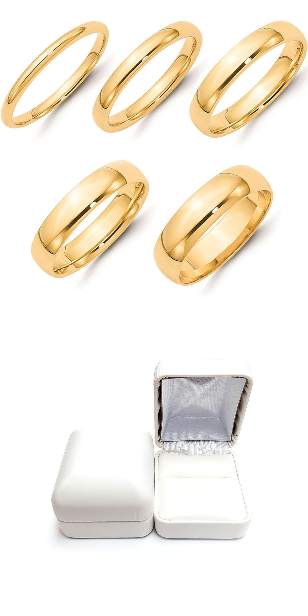 Bands without Stones 92852: Solid 14K Yellow Gold 2Mm 3Mm 4Mm 5Mm 6Mm Plain Comfort Fit Wedding Band Ring -> BUY IT NOW ONLY: $205 on eBay!