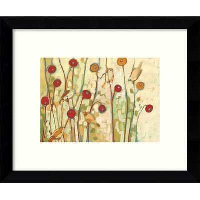 Amanti Art 'Five Little Birds Playing Amongst the Poppies' by Jennifer Lommers Framed Graphic Art