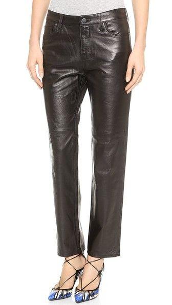 J Brand Casey Leather Boyfriend Pants