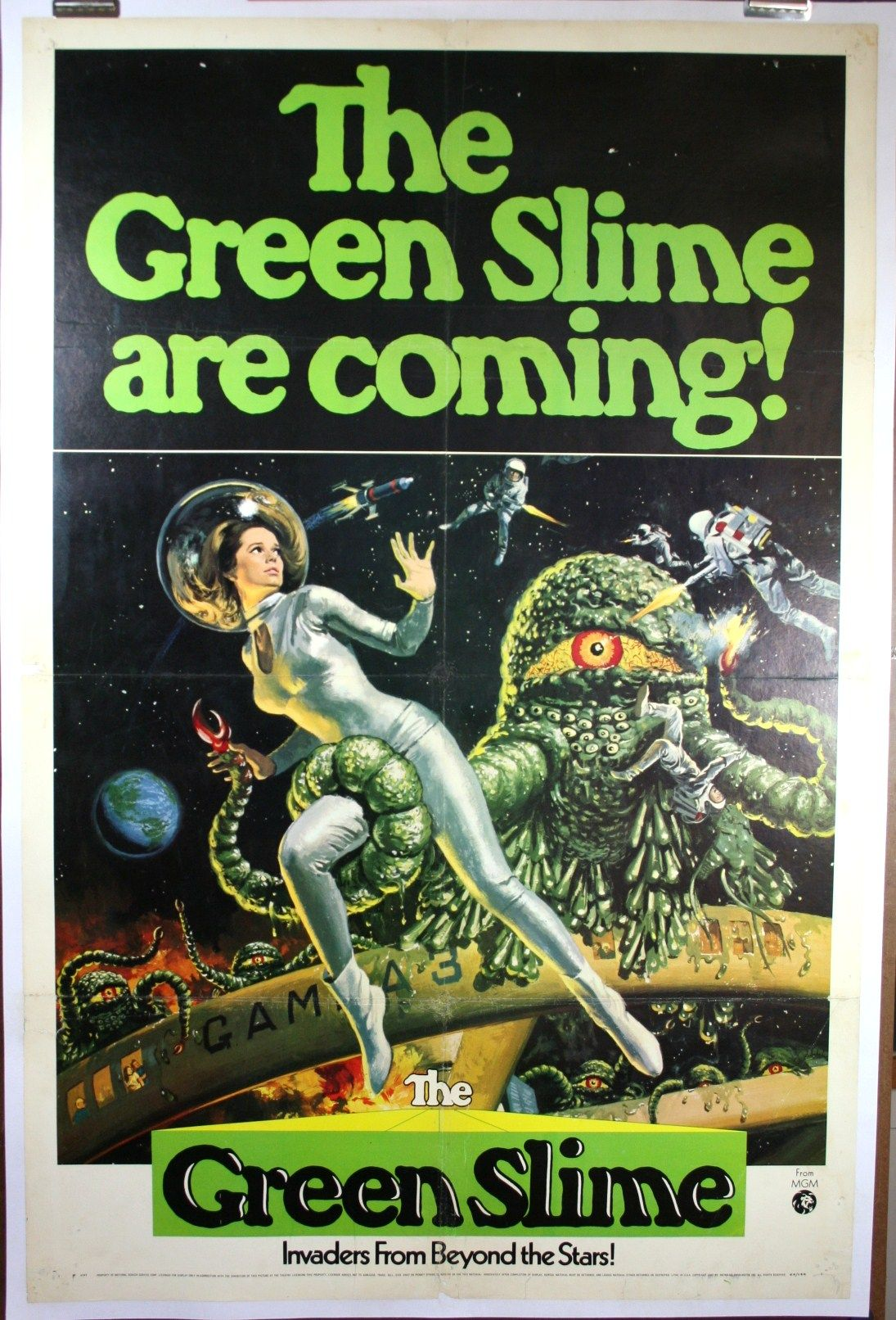 GREEN SLIME, 1968 SCI-FI MOVIE POSTER | sci-fi/sci-fact ...