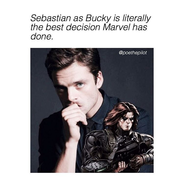 Sebastian Stan is Bucky is literally the best decision marvel has ever made