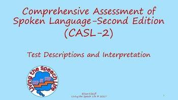 casl speech assessment