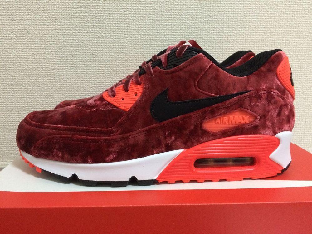 Nike Air Max 90 25th Anniversary Red Velvet Mens US 7~10 (725235 600) QS  cork bf1c752d4