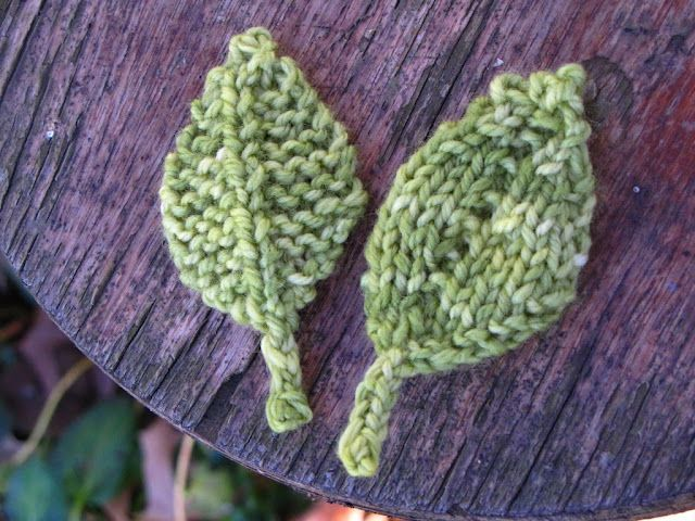 Knitted Leaves Pattern Knitting Small Things Pinterest Leaves