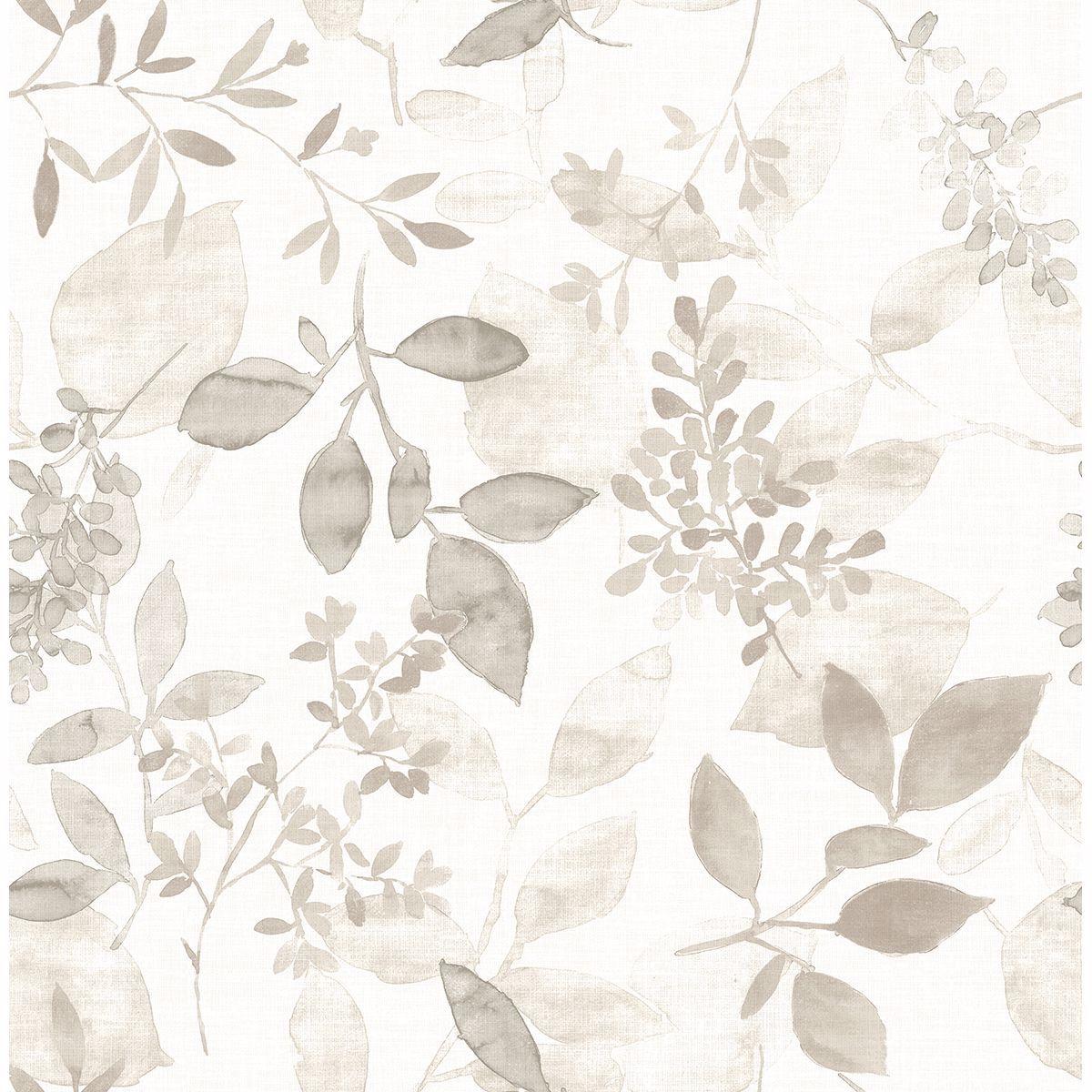 Gossamer Taupe Botanical Wallpaper Botanical Wallpaper Watercolor Wallpaper Farmhouse Wallpaper