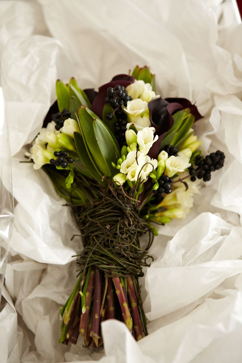 Black Cala Lily Bouquet Daylesford Wedding From Goldsmith Co This Whole Is Gorgeous So Simple And Elegant