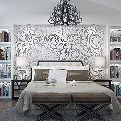 Aruhe® Europäische 10m 3D Optik Vliestapete Wand Tapeten Dekoration - tapeten design schlafzimmer