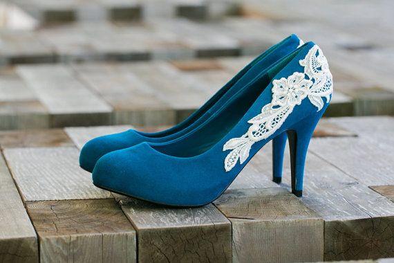 Sale Wedding Shoes Teal Blue Bridal Shoeswedding Etsy Teal Wedding Shoes Teal Heels Blue Bridal Shoes