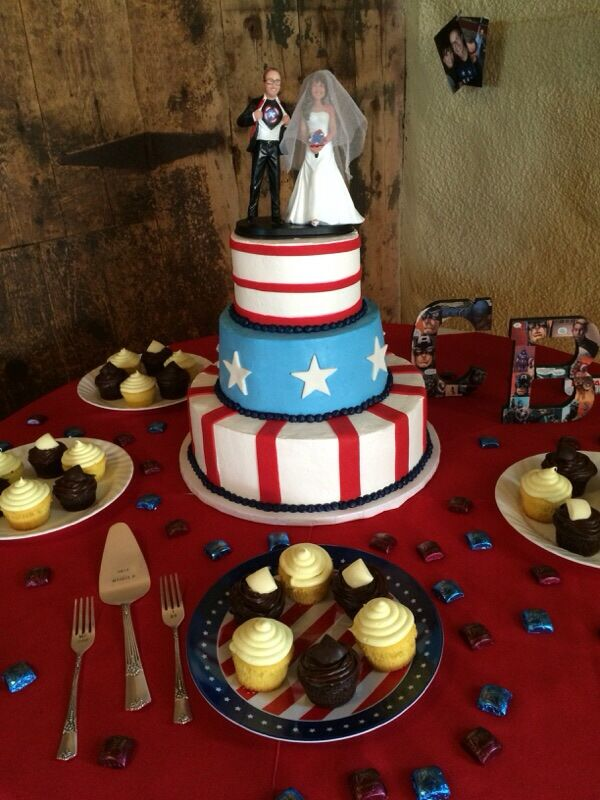 The Captain America Wedding Cake Captain America