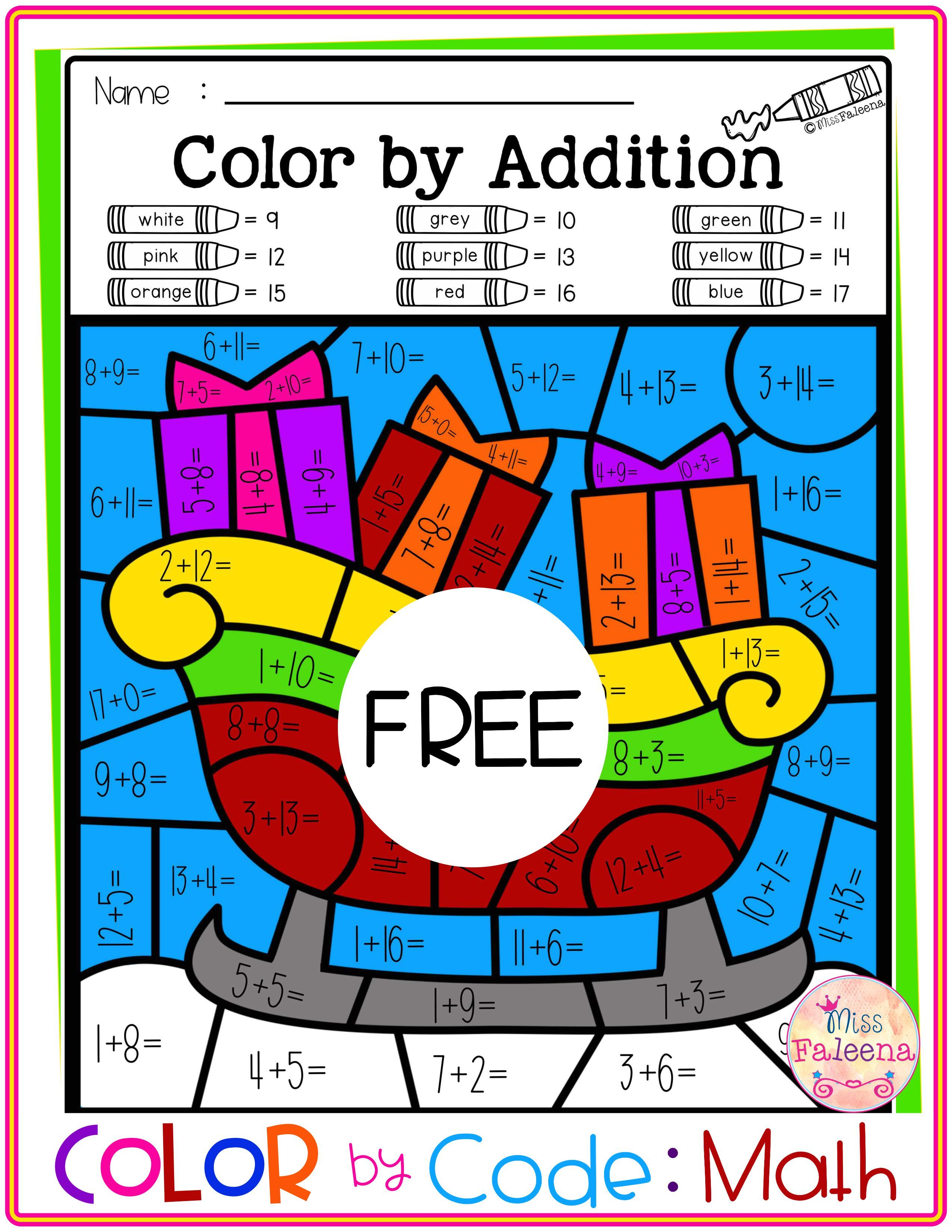 Free Color By Code Math Color By Number Addition Subtraction Math Coloring Math Subtraction Homework [ 3300 x 2550 Pixel ]