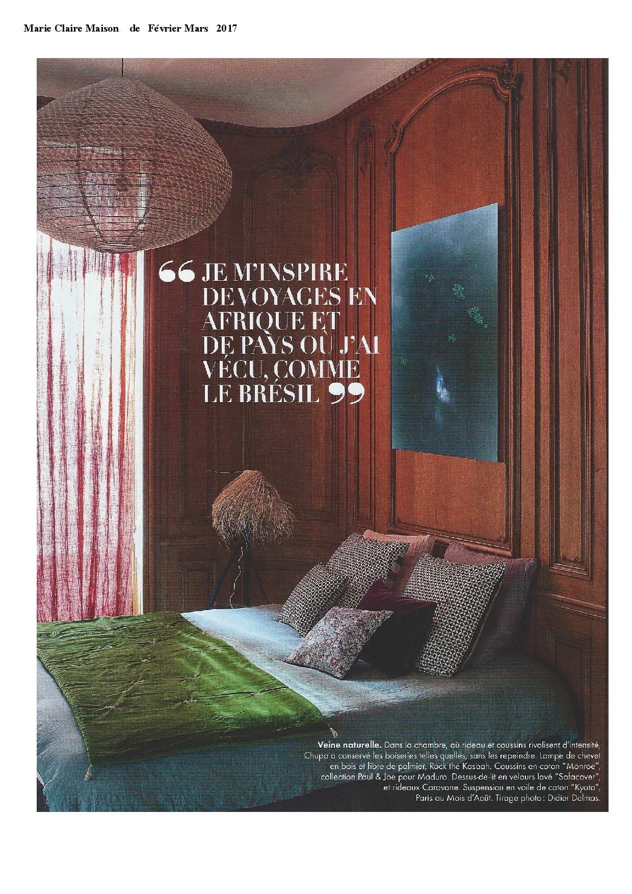 paris au mois daot drop lamp in the french decoration magazine marie claire maison