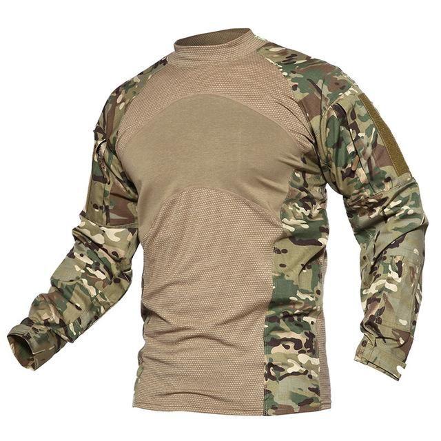eef7a82c983d3f Men s Lightweight Tactical Combat Long Sleeve T Shirt Army Green Khaki –  MILTACT