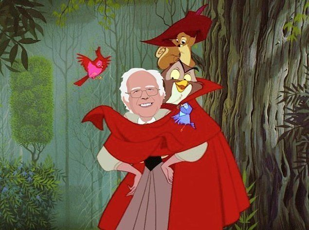 Just A Bunch Of Amazing Photos Of Bernie Sanders As A Disney Princess Disney Princess Disney Funny Vines