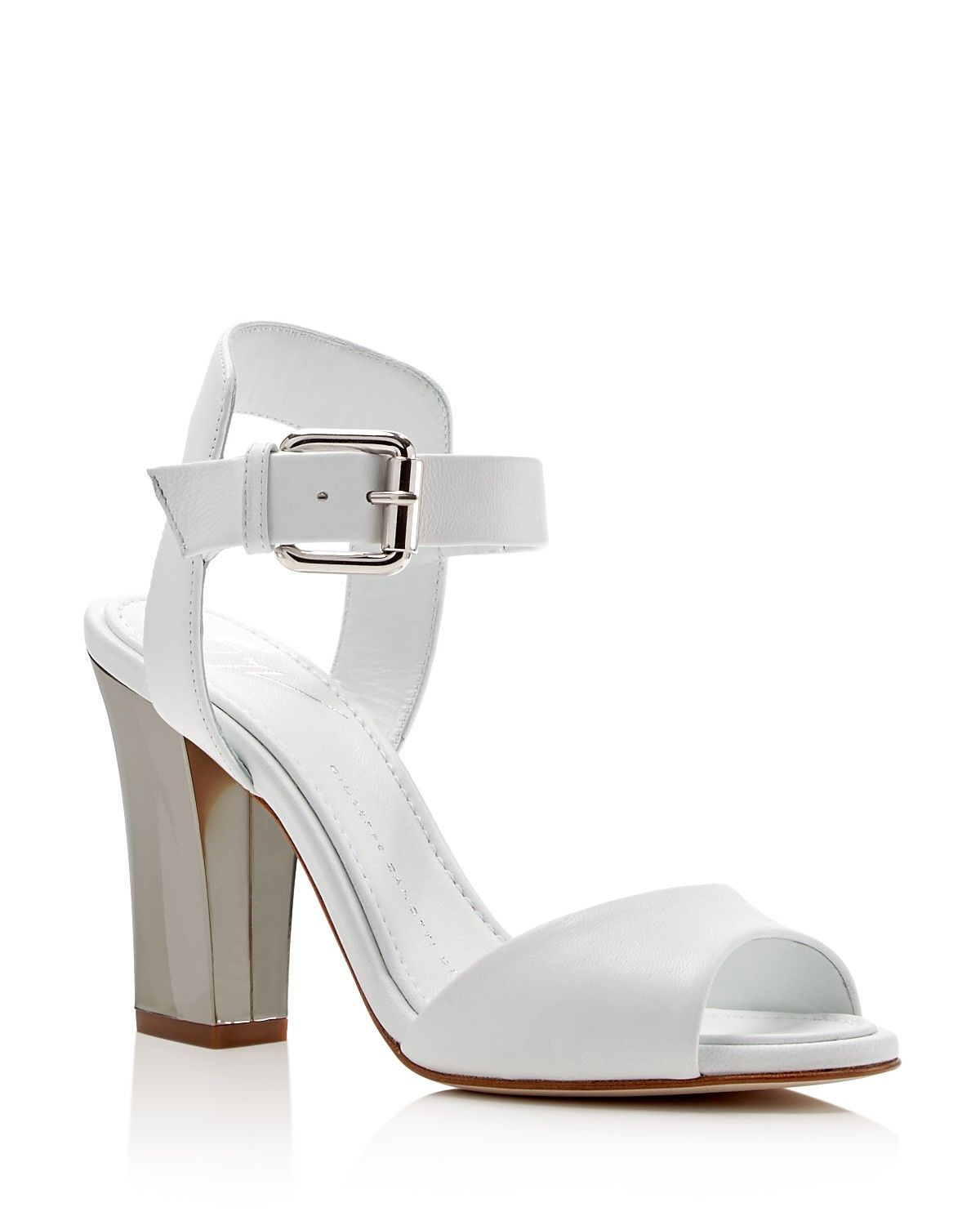 Giuseppe Zanotti Alien Block Heel Sandals - 100% Bloomingdale's Exclusive - Mirrored heels add just the right amount of spark to Giuseppe Zanotti's seasonlessly stylish sandals.