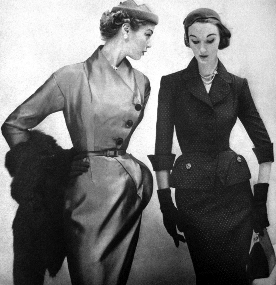 Evelyn Tripp (right), Jean Patchett, (left) 1951 Vogue US