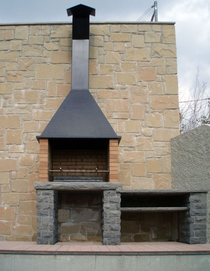 Barbacoa de piedra r stica 2 chimenea brick oven outdoor bbq y barbecue - Barbacoa obra ...