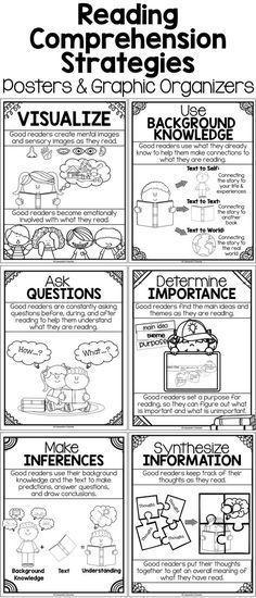 Stratégies de compréhension de l'anglais et de lecture Posters, organisateurs graphiques ... Stratégies de compréhension de l'anglais et de lecture Posters, organisateurs graphiques et activités ,