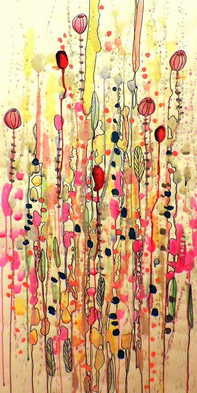 Samsara Art Print By Sylvie Demers Society6 Modern Art Abstract Abstract Canvas Wall Art