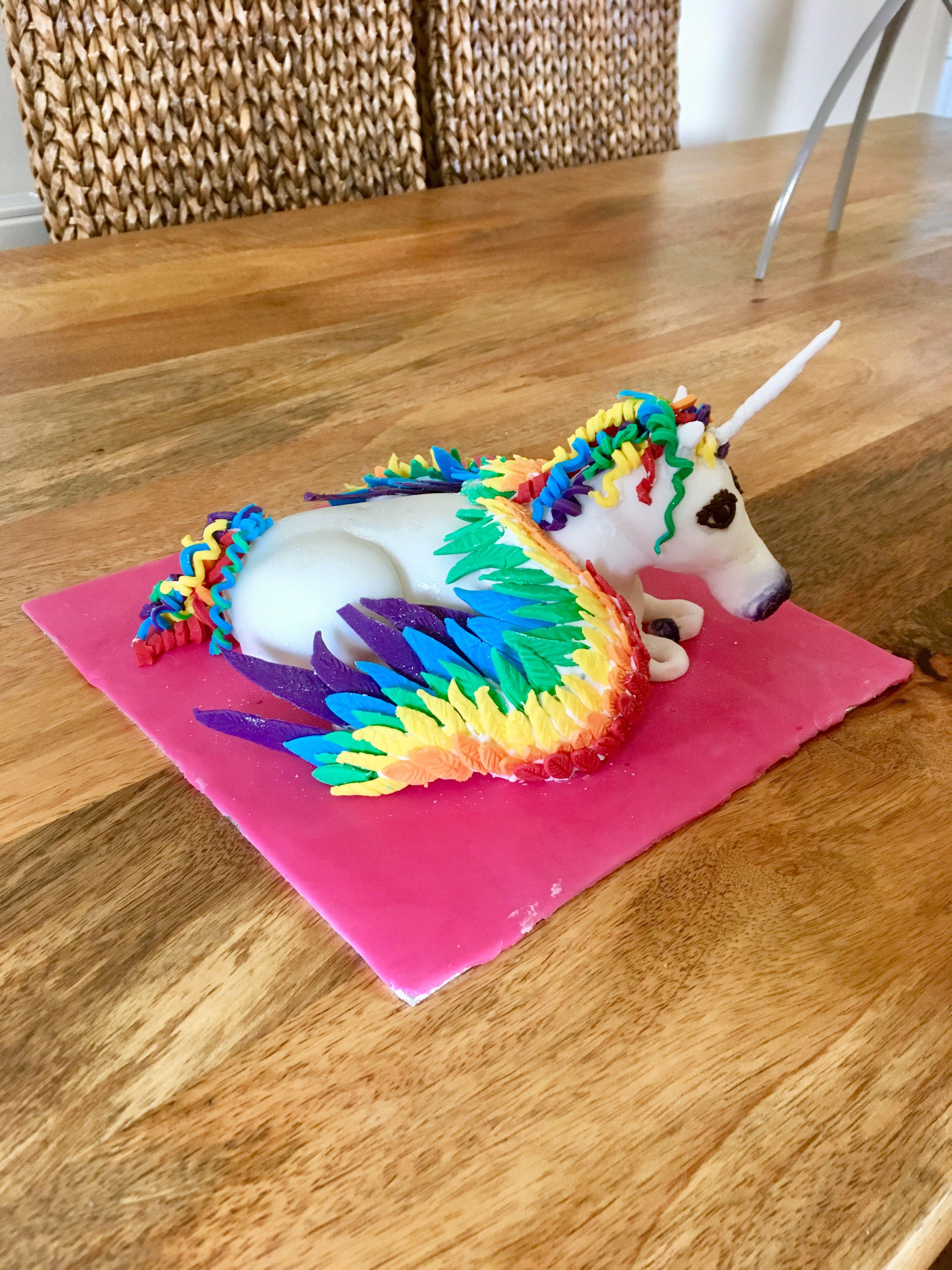 Rainbow unicorn cake topper | Unicorn cake topper ...