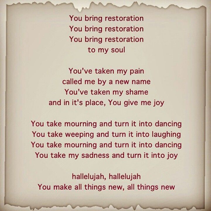 Restoration.