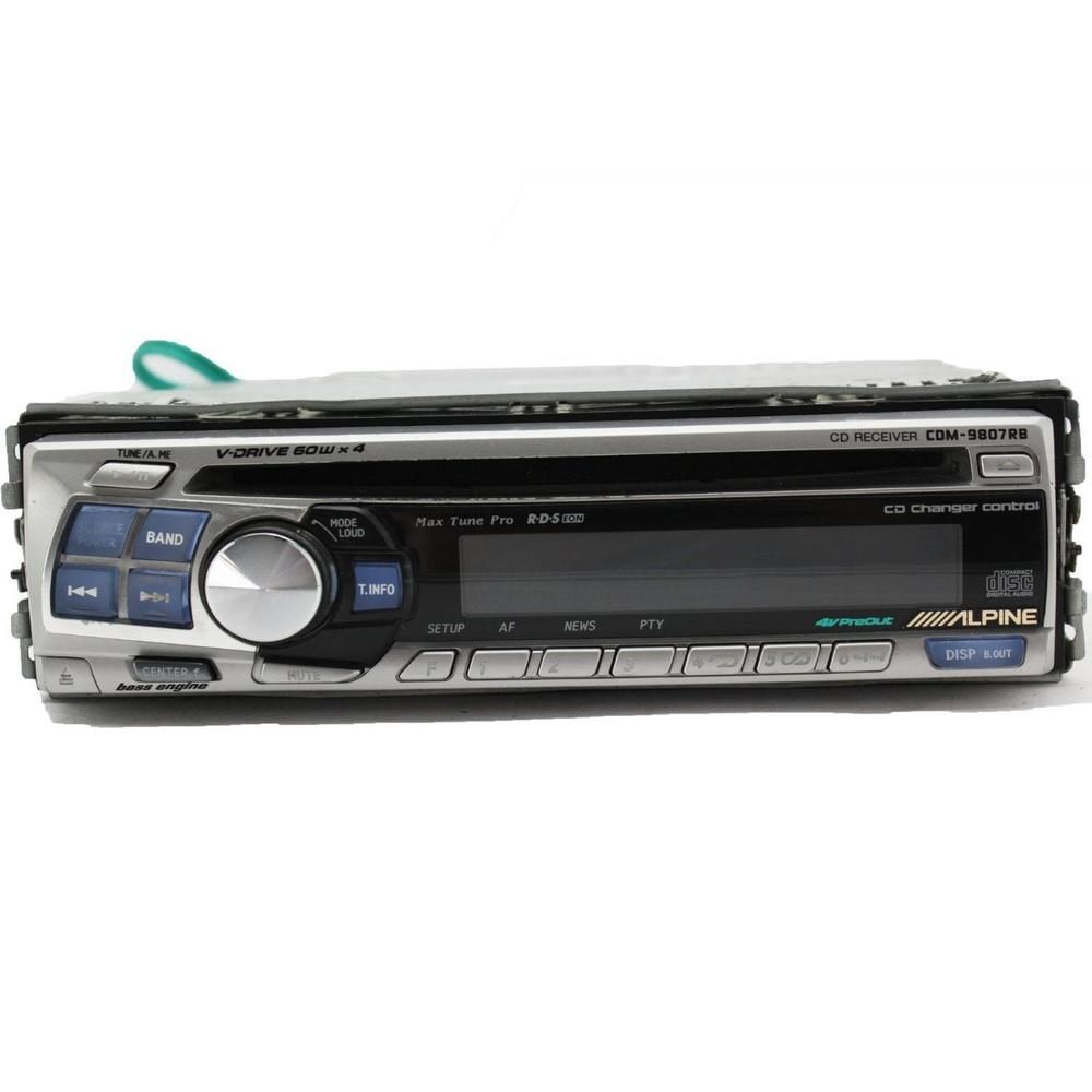 Alpine Cdm 9807rb Car Cd Player 60wx4 V Drive Aux In 3 Pre Outs 1 The Stereo Bit Dac