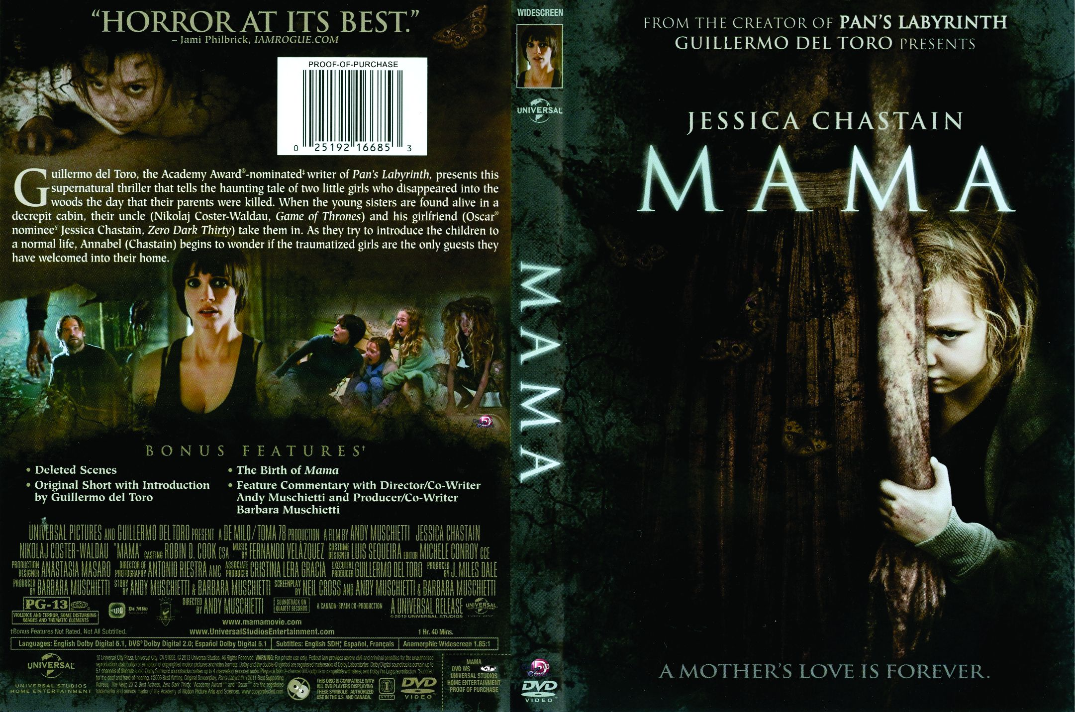 Movie Front Covers | Mama (2013) WS R1 - Movie DVD - Front DVD Cover