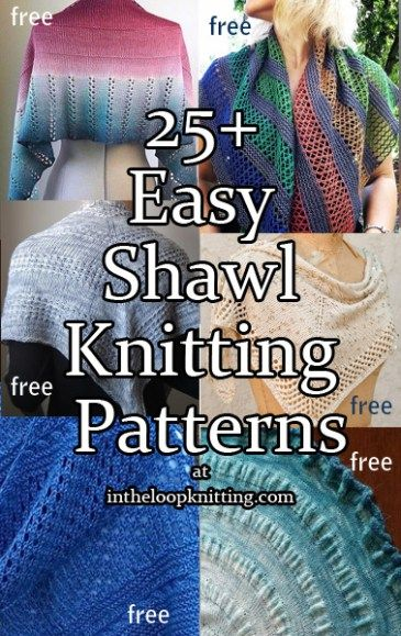 Easy Shawl Knitting Patterns Easy Knitting Knit Patterns And Shawl