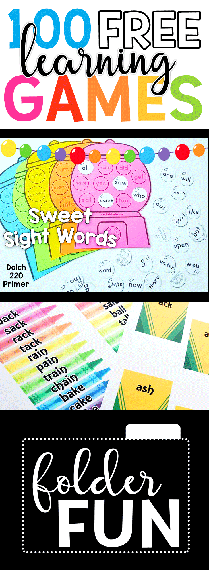 Free Printable Learning Games For Kids Preschool Kindergarten