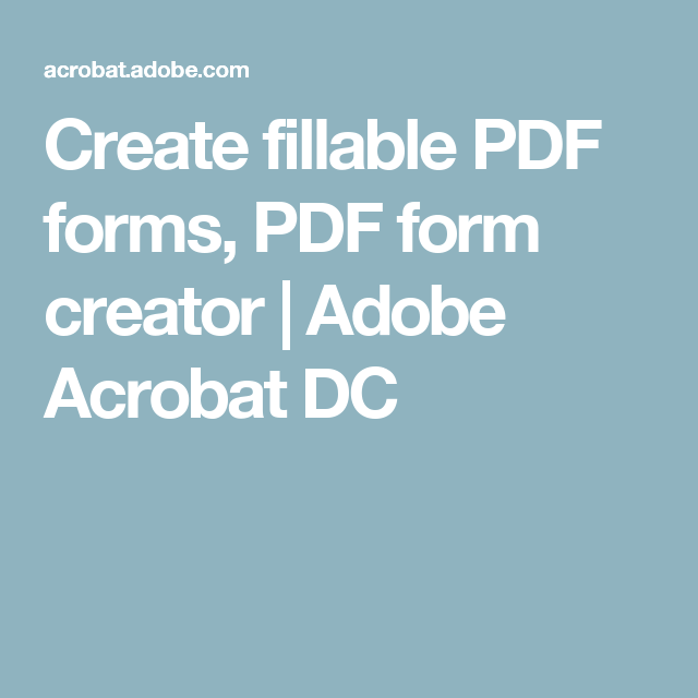 Create fillable PDF forms, PDF form creator | Adobe Acrobat