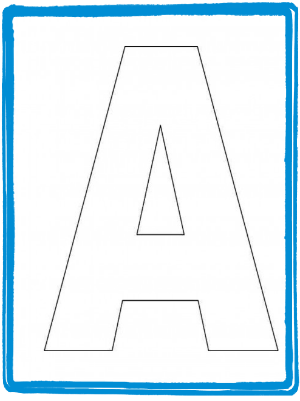 Alphabet-Letter-A-Template-For-Kids | Preschool | Pinterest