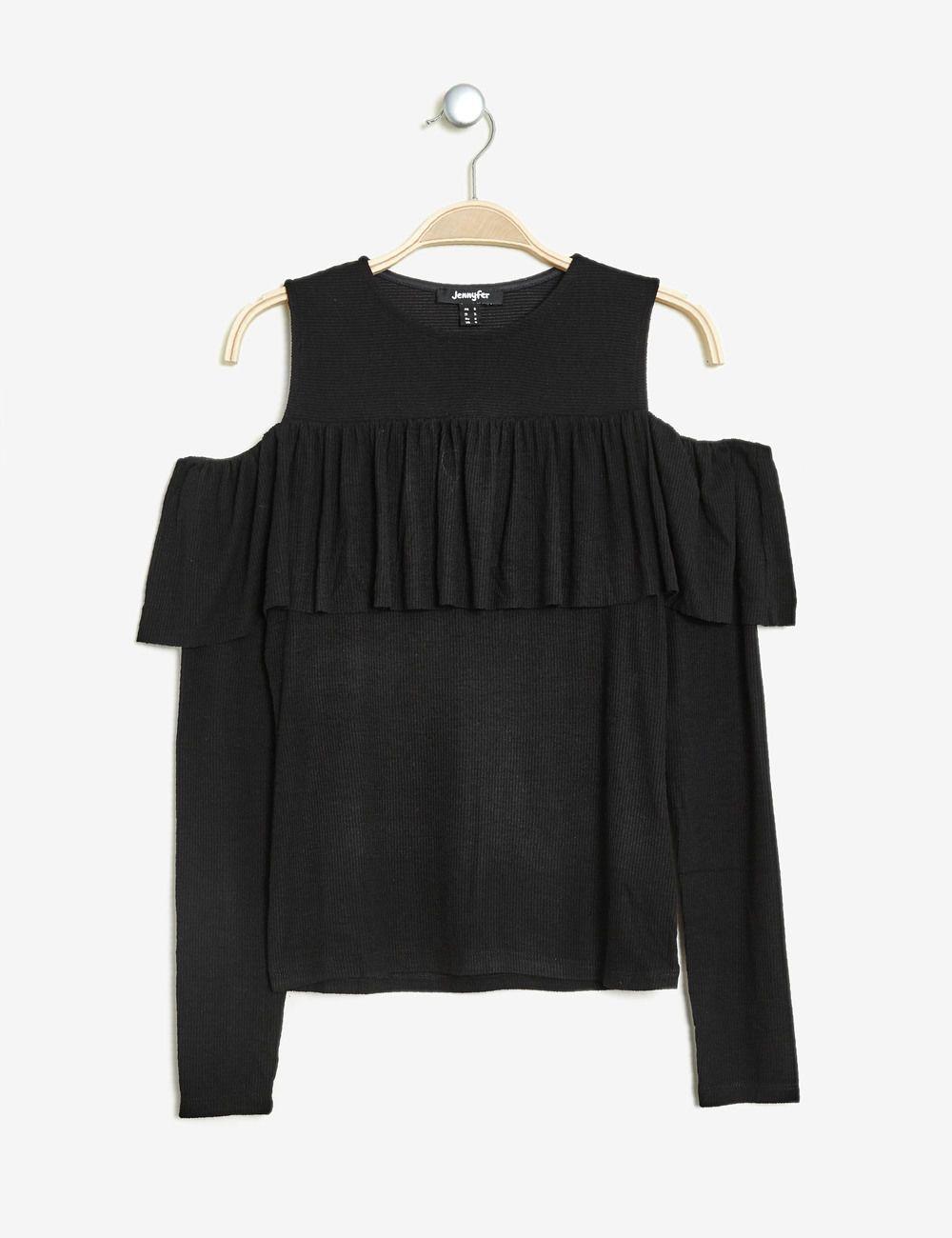 Tee-shirt à volant bordeaux femme • Jennyfer